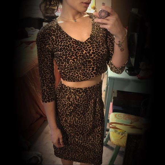 Forever 21 Dresses & Skirts - Vintage Forever 21 Leopard Set